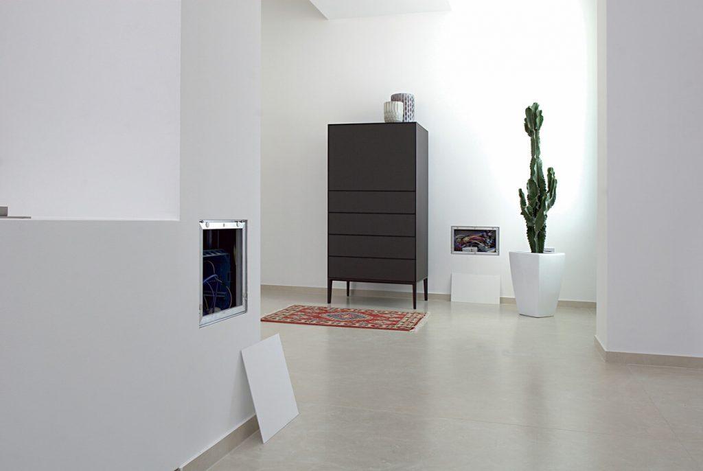foto di chiusure parete con ante sottili raso parete