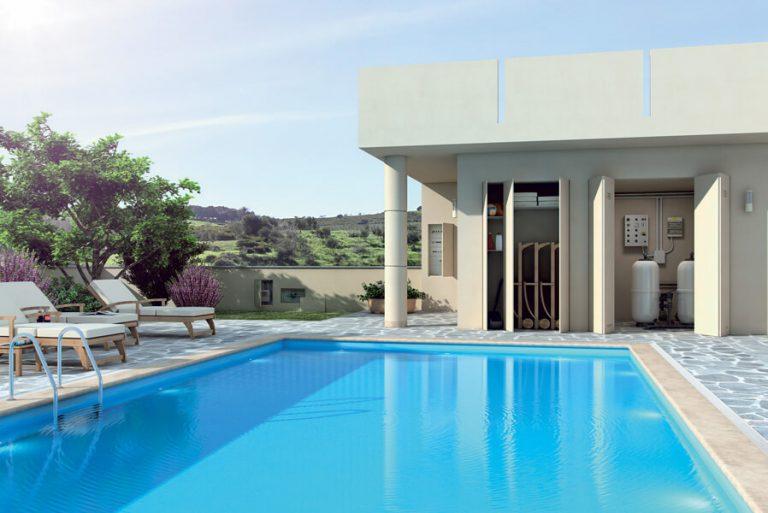 foto di chiudere locali tecnici piscina