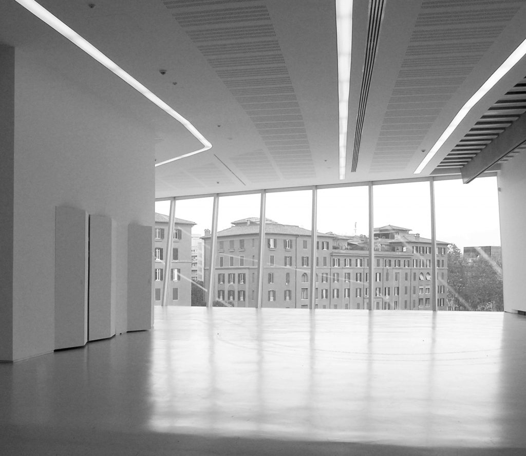 foto di chiusura impianti aperta Museo Maxxi