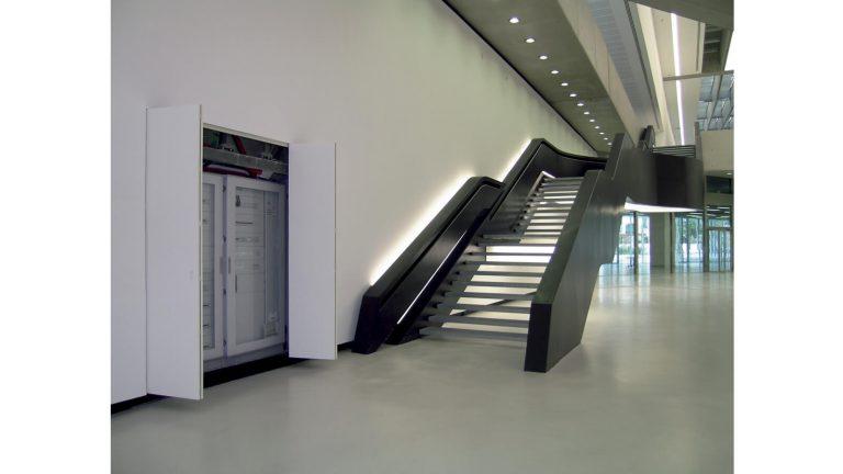 foto di chiusura quadro elettrico aperta Museo Maxxi
