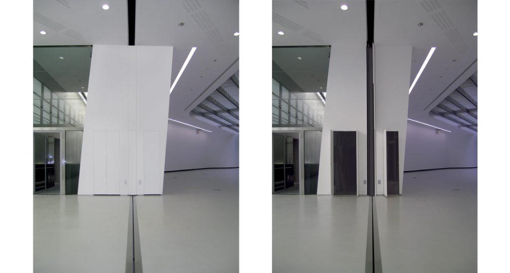 foto di chiusure invisibili raso parete Museo Maxxi