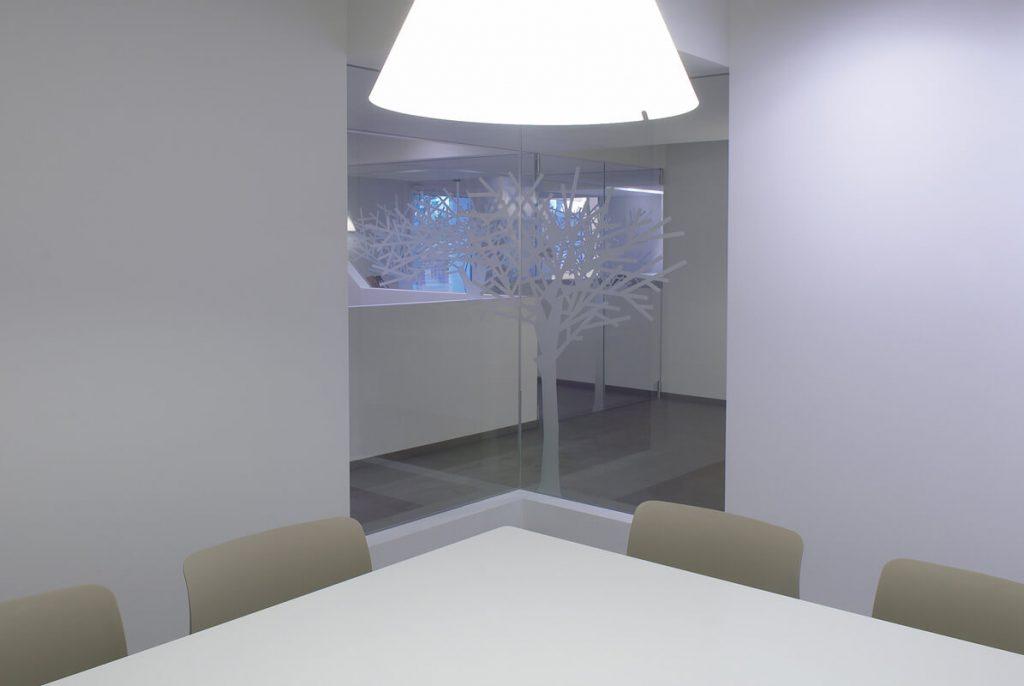 Pareti in Cristallo nella sala riunioni