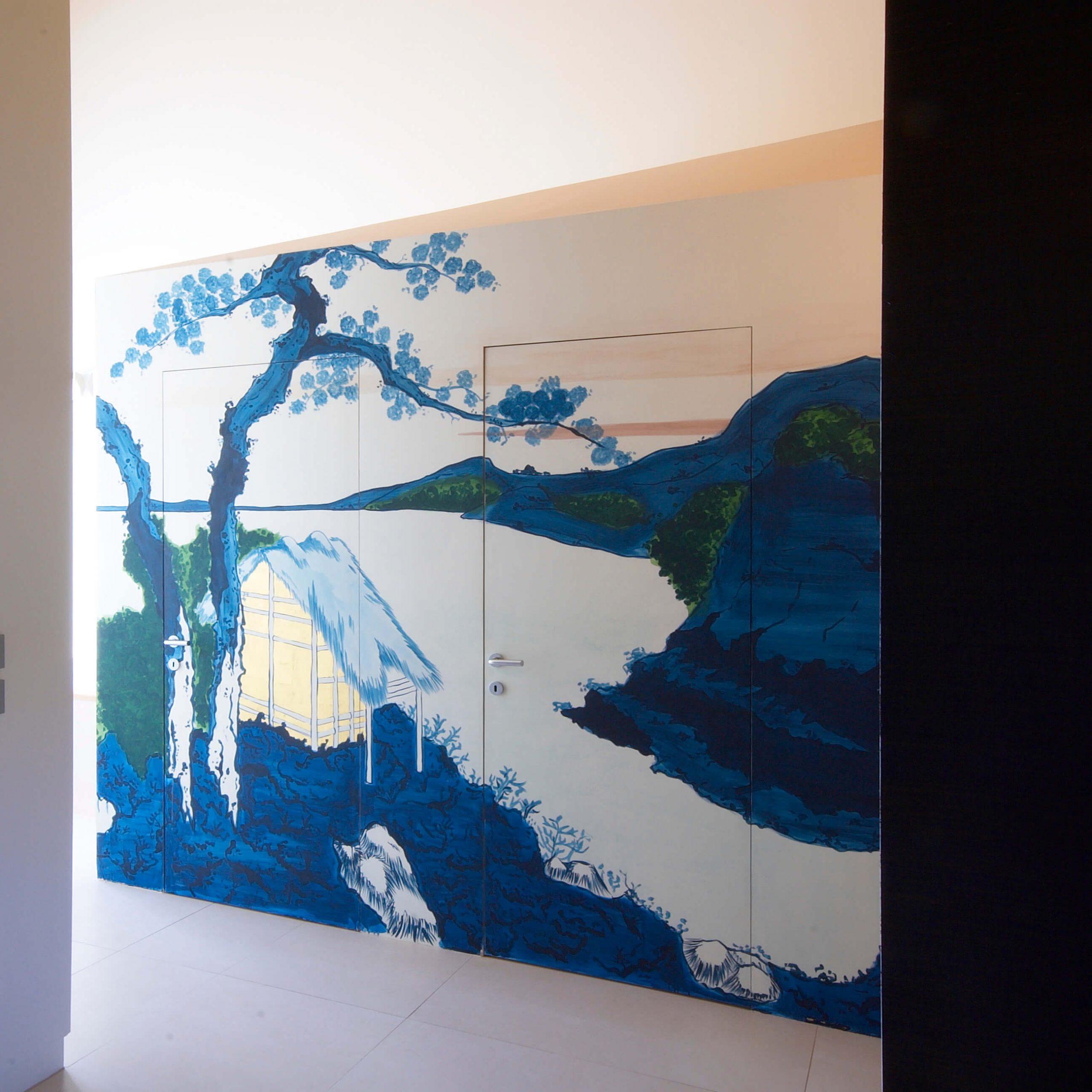foto Porta Filo Muro chiusa con parato colorato