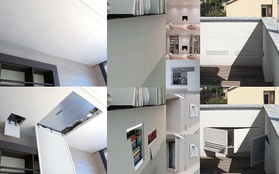 collage di foto per sistemi raso parete per esterni