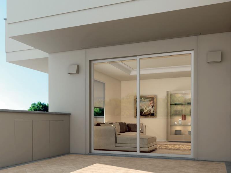 foto di mobili alluminio esterno per terrazzo